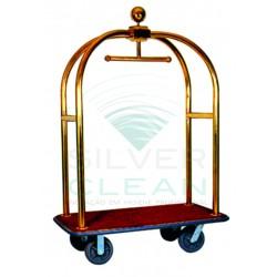 Porta Malas Luxo com Cúpula Latão Dourado