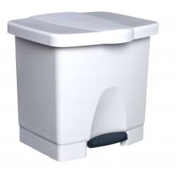 Contentor com Pedal ABS Branco 45L
