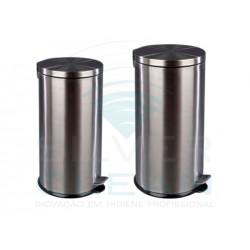 Papeleira c/ Pedal e Balde Int. Inox Acetinado 40L
