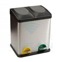 Papeleira c/ Pedal Inox Acetinado 2 x 15L