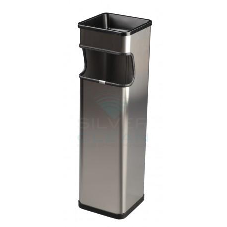 Papeleira-Cinzeiro Quadrada Acetinada (25L)